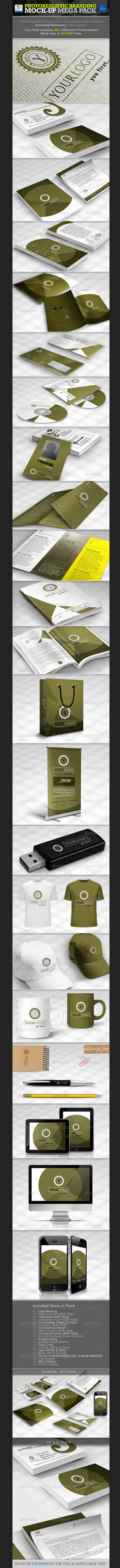 Photorealistic Branding Mock-up Mega Pack