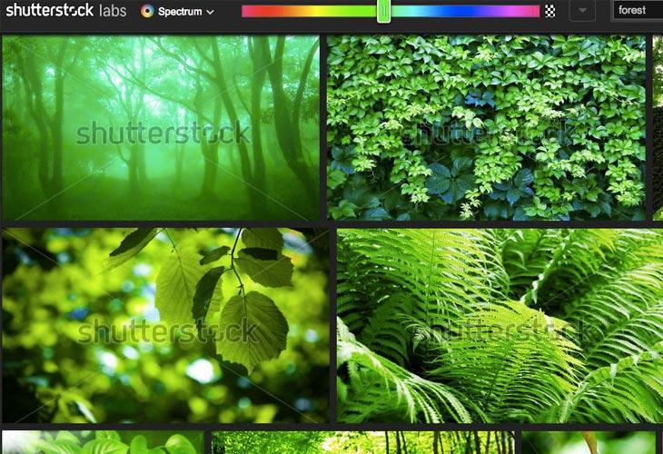 Shutterstock's Color Spectrum