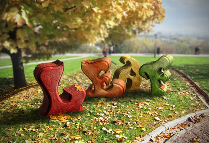 Autumn-Themed-3D-Text-Effect-With-Photoshop-CS6