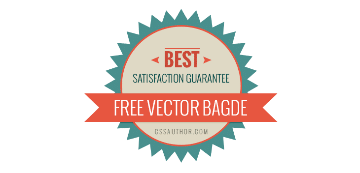 Clean Flat Badges PSD - cssauthor.com