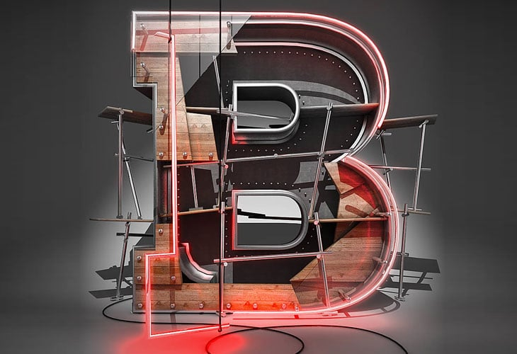 Create-a-3D-Typographic-Illustration