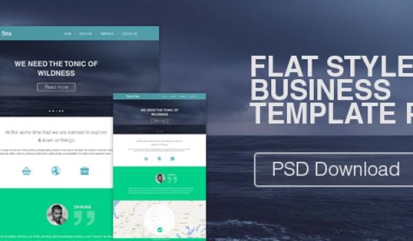 Flat Style Business Template PSD - cssauthor.com