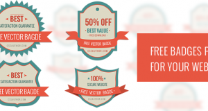 Free Badges PSD for Your Website – Freebie No: 101
