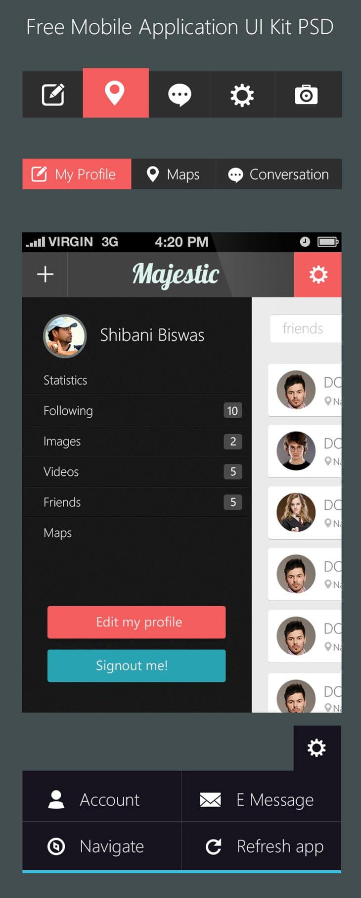 Free-Mobile-Application-UI-Kit