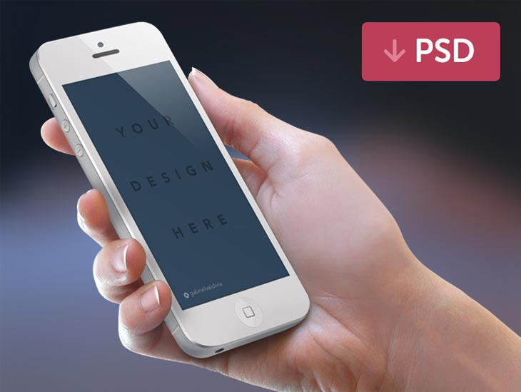 Free iPhone Mockup PSD White