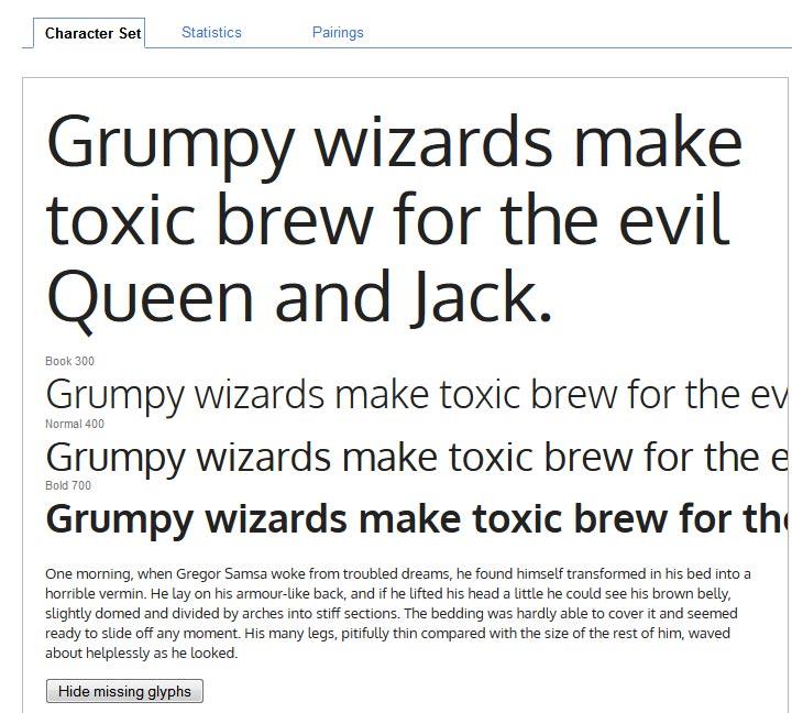 Google Fonts Oxygen