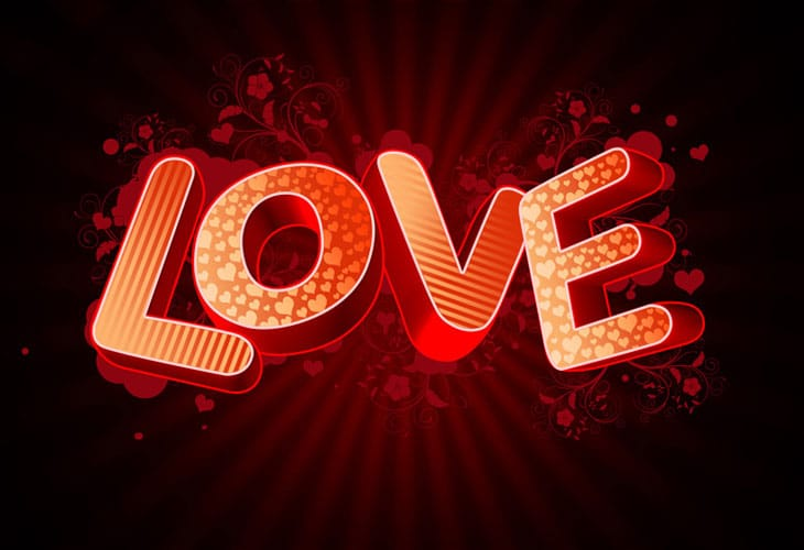 How-to-create-3D-Love-text-composition