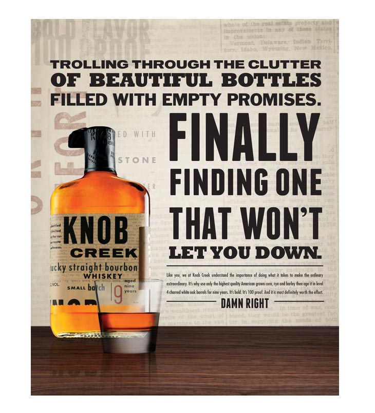 Knob Creek Print Ads