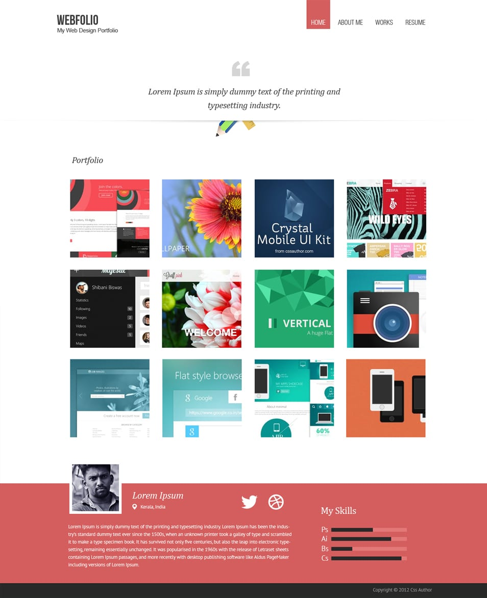 Minimal Psd Portfolio Template With Images