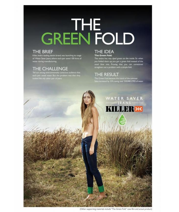 """THE GREEN FOLD"" Print Ad"