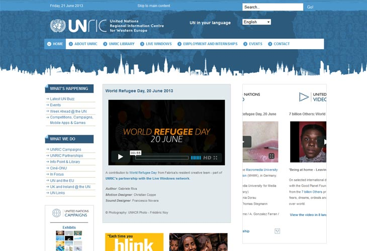 United Nations Regional Information Centre for Western Europe - UNRIC