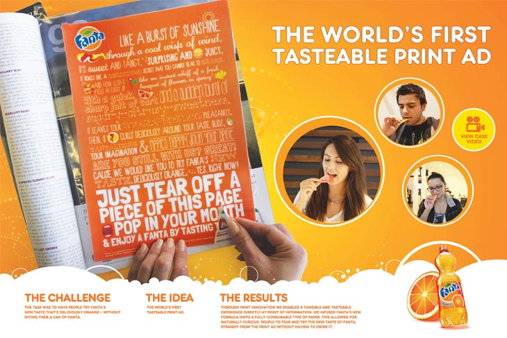 World's First Tastable Print Ad