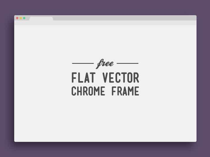 flat-Vector-Chrome-Frame