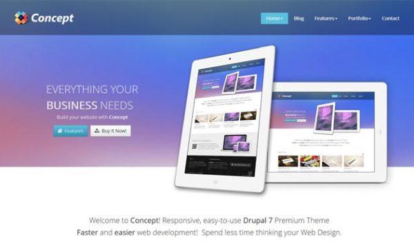 25 Best Premium Responsive CMS Drupal Themes 2013