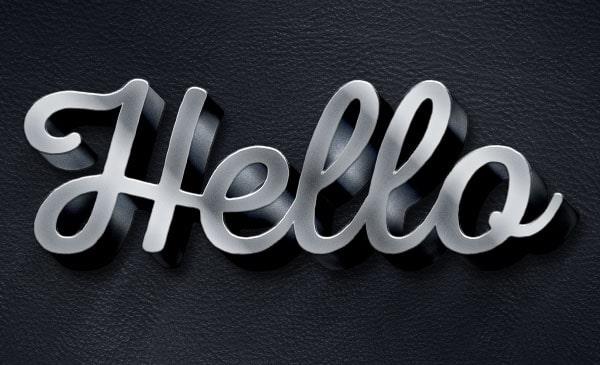 3D-Metallic-Text-Effect