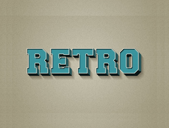 3D Retro Text Effect