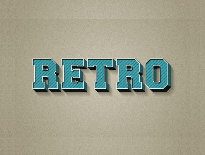 3D Retro Text Effect