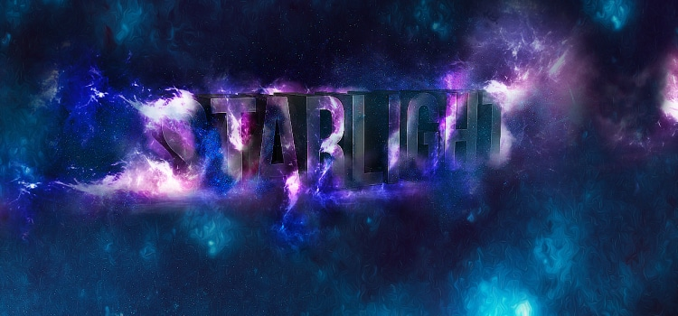 3D Star Light Text Effect