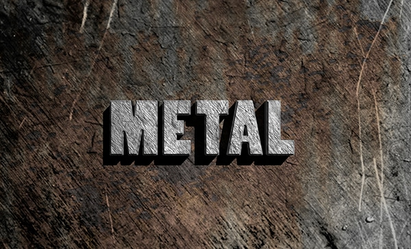 3D Text Metal Effect