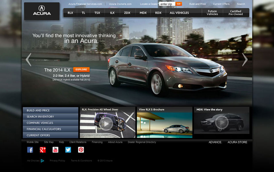30 Beautiful Website Designs Inspired by Cars on lexus website, nissan website, porsche website, john deere website, land rover website, volkswagen website, infiniti website, honda website, aston martin website,