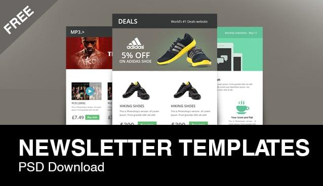 3 beautiful free e mail newsletter designs psd freebie for Beautiful newsletter design