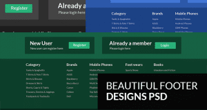 Beautiful Footer Design PSD Templates for Websites – Freebie No: 114