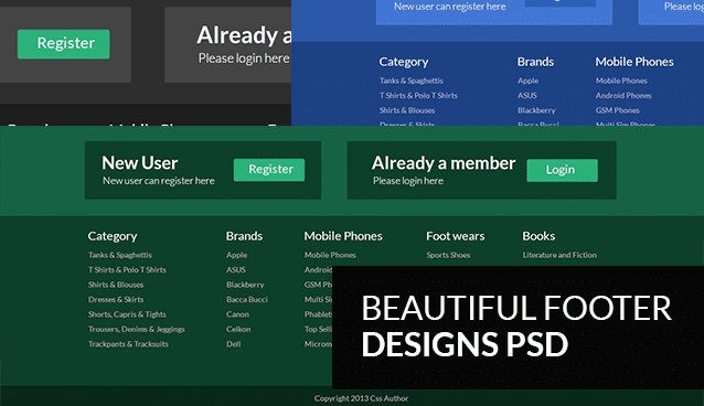 how to create a footer in css