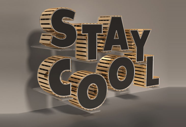 Black and Gold 3D Text Effect