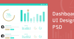 Dashboard UI Design PSD – Freebie No: 105
