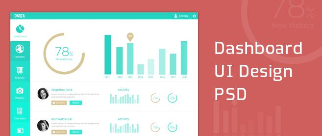 Dashboard UI Design PSD - cssauthor.com