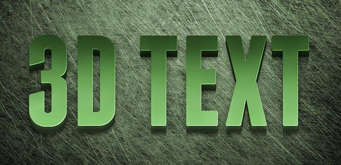 Editable 3D Text Effect