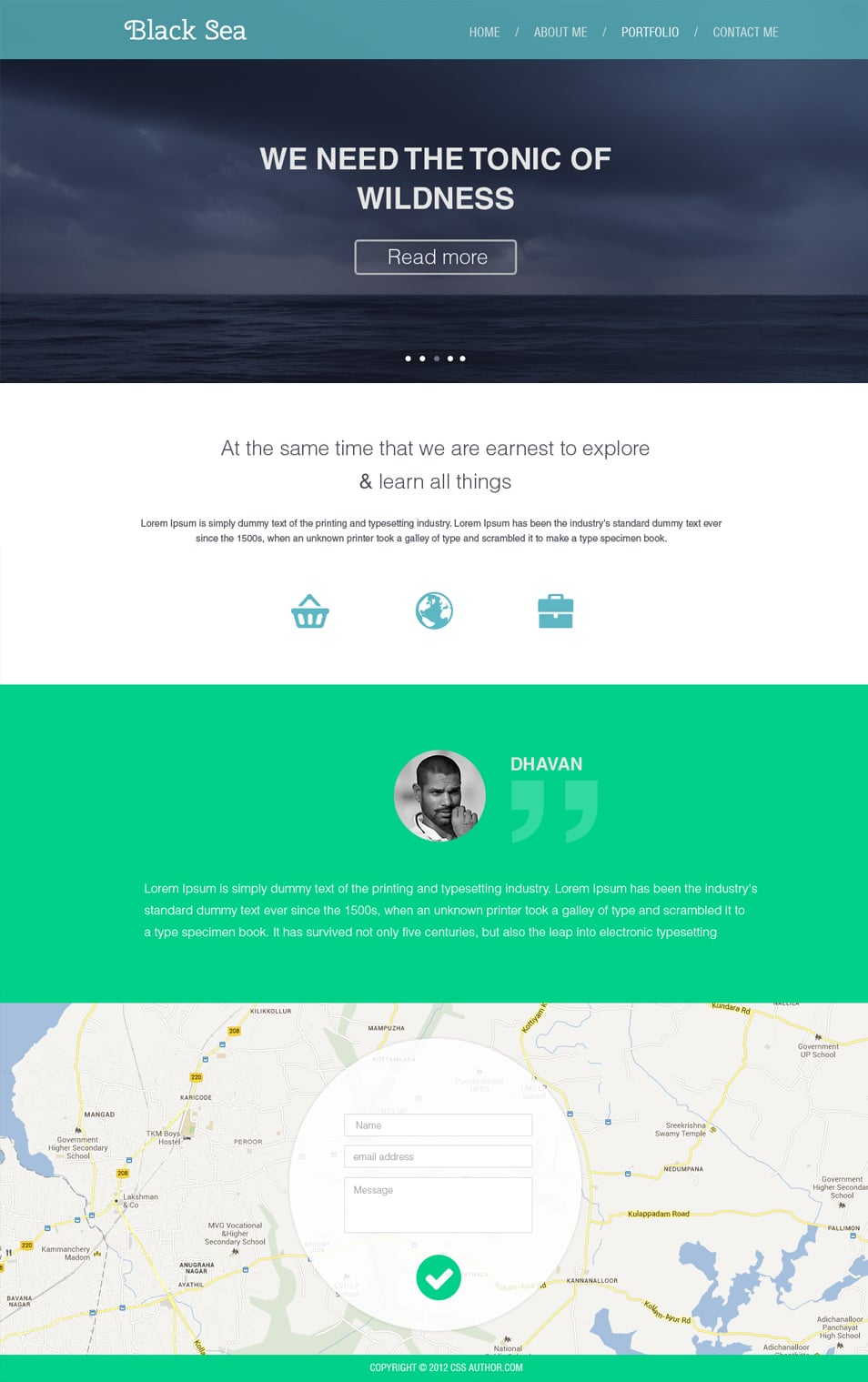 Flat Style Business Web Template PSD