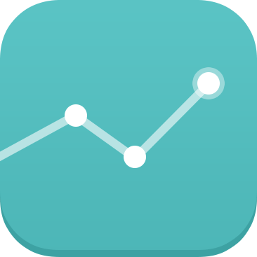 Graph Chart iOS7 Icon - cssauthor.com
