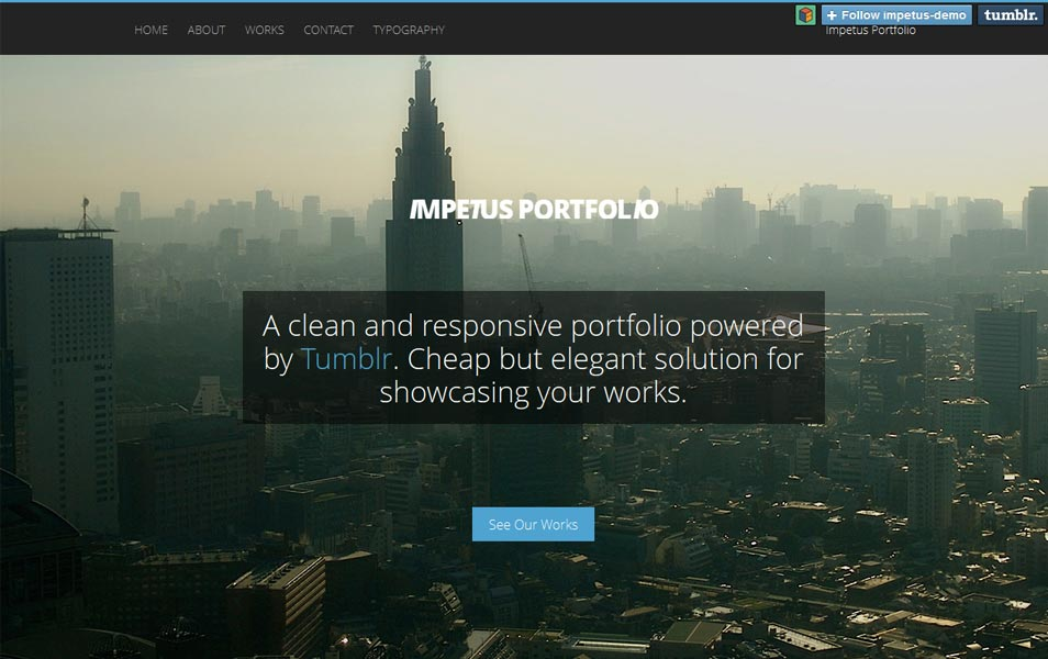 Impetus Tumblr Portfolio Theme
