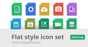 Modern Flat Style Icon Set – Freebie No: 112