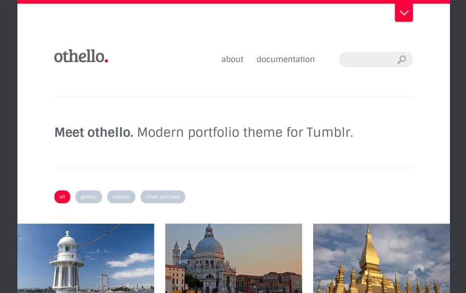 Othello - Modern Portfolio Tumblr Theme