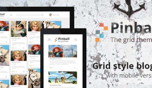 Pinball - Grid Style Blog PSD - cssauthor.com