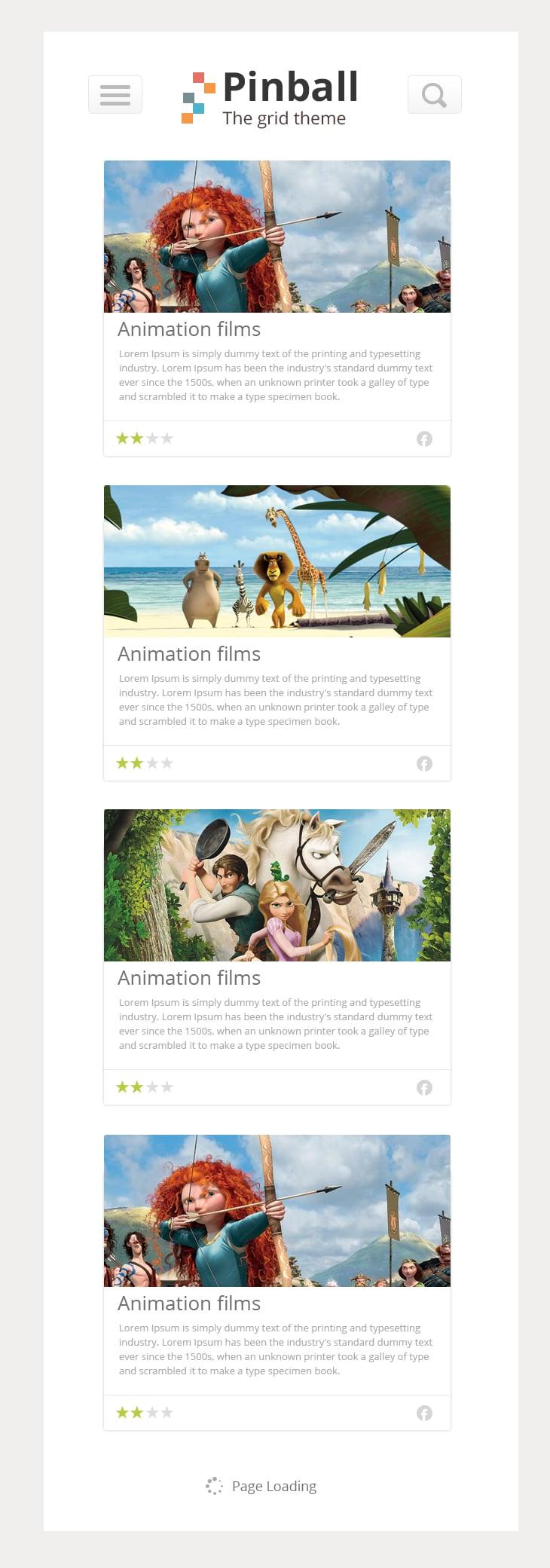 Pinball - Responsive Grid Style Blog PSD - cssauthor.com