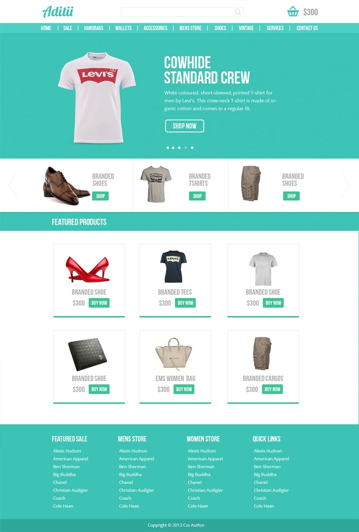 Premium Ecommerce Website Template PSD for Free Download - cssauthor.com
