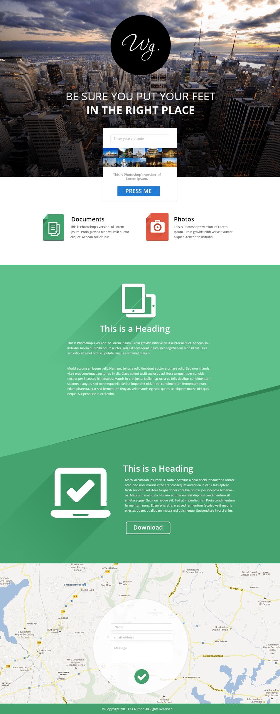 Single Page Website Template PSD - cssauthor.com