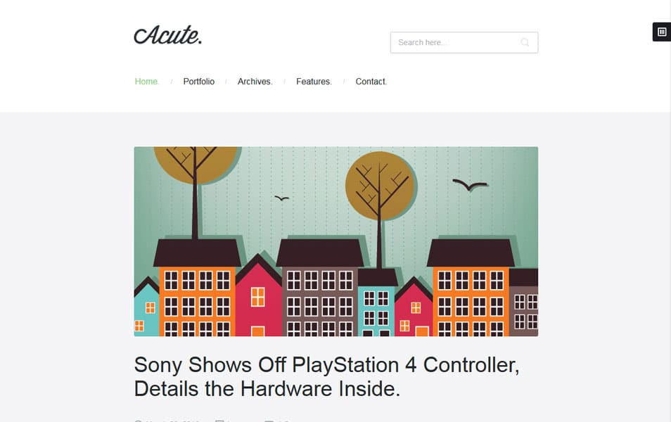 Acute | Beautiful & Responsive Blogging Theme