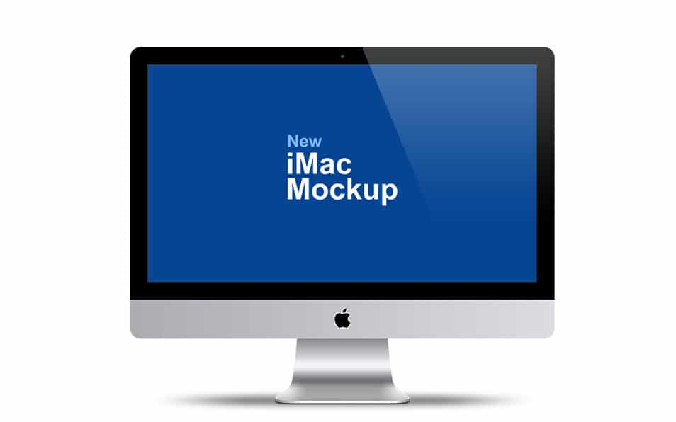 Apple iMac 27″ Mockup PSD Template