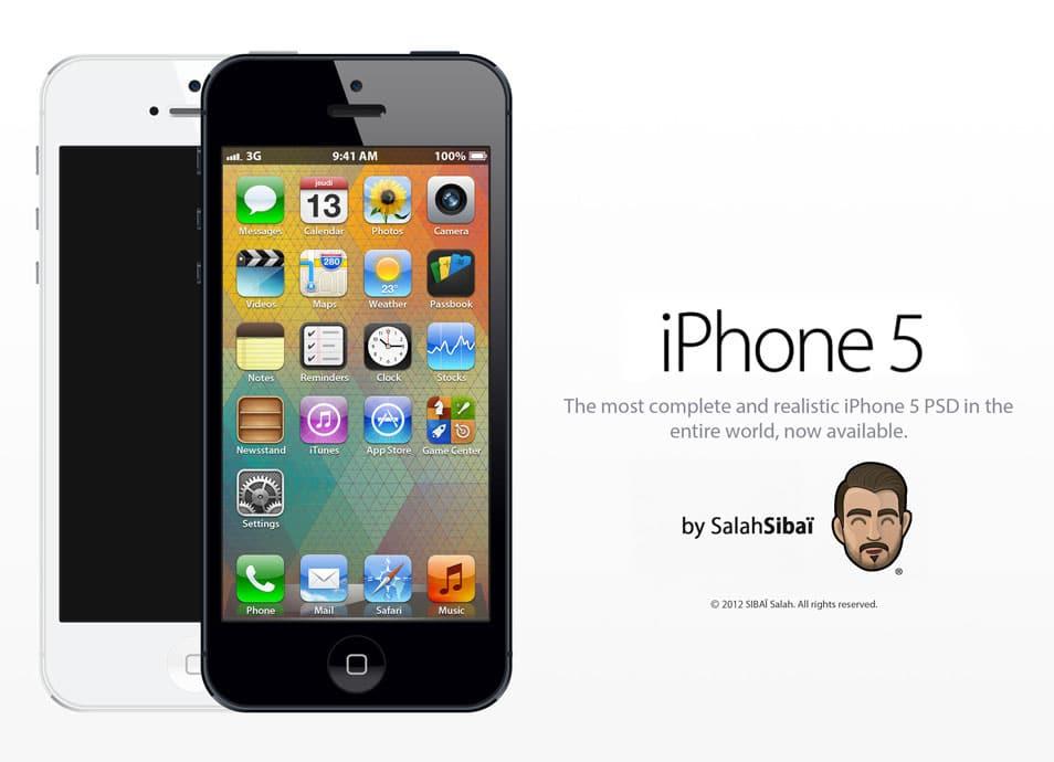 Apple iPhone 5 PSD Mockup