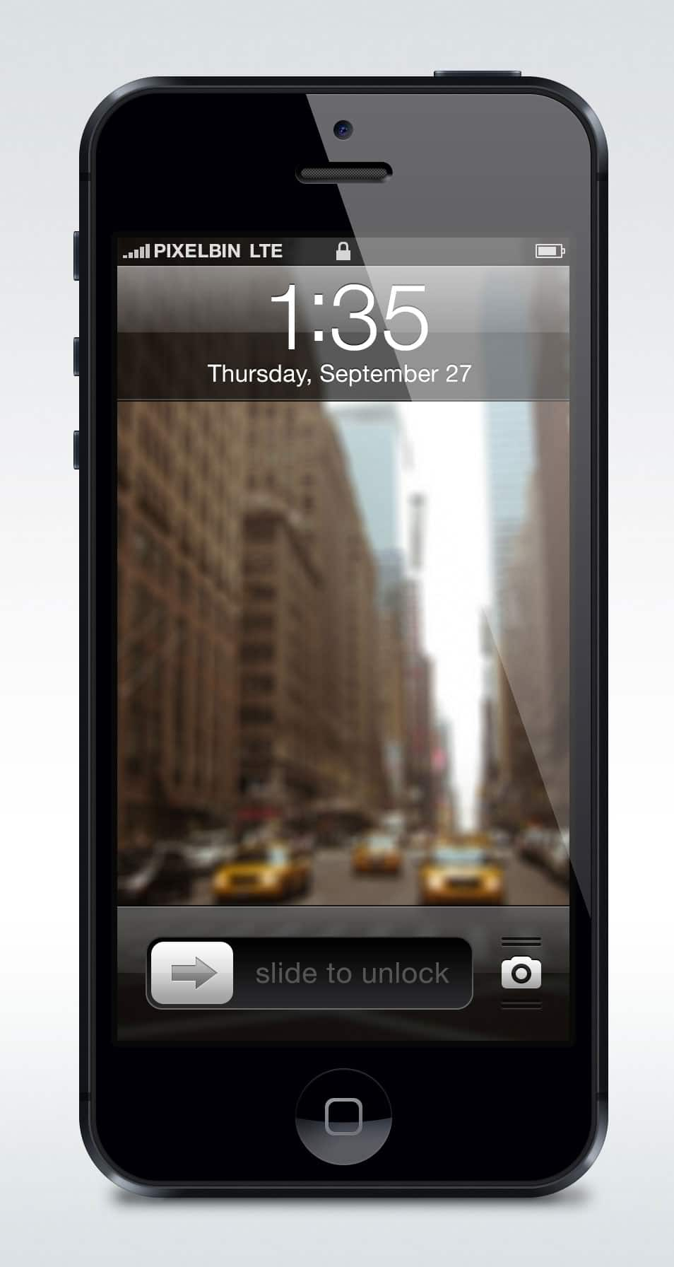 Apple iPhone 5 Vectorized Mockup