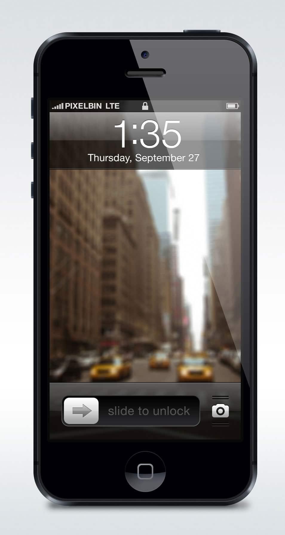 Apple iPhone 5 Vectorized Mockup