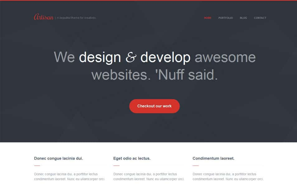 Artisan - Creative Responsive WordPress Theme