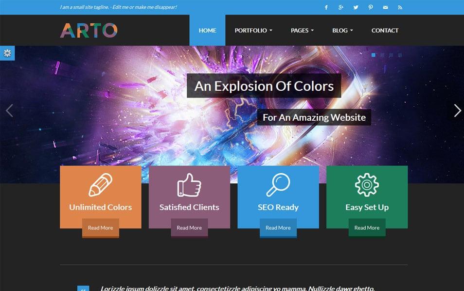 Arto - A Flat & Responsive Multipurpose Theme