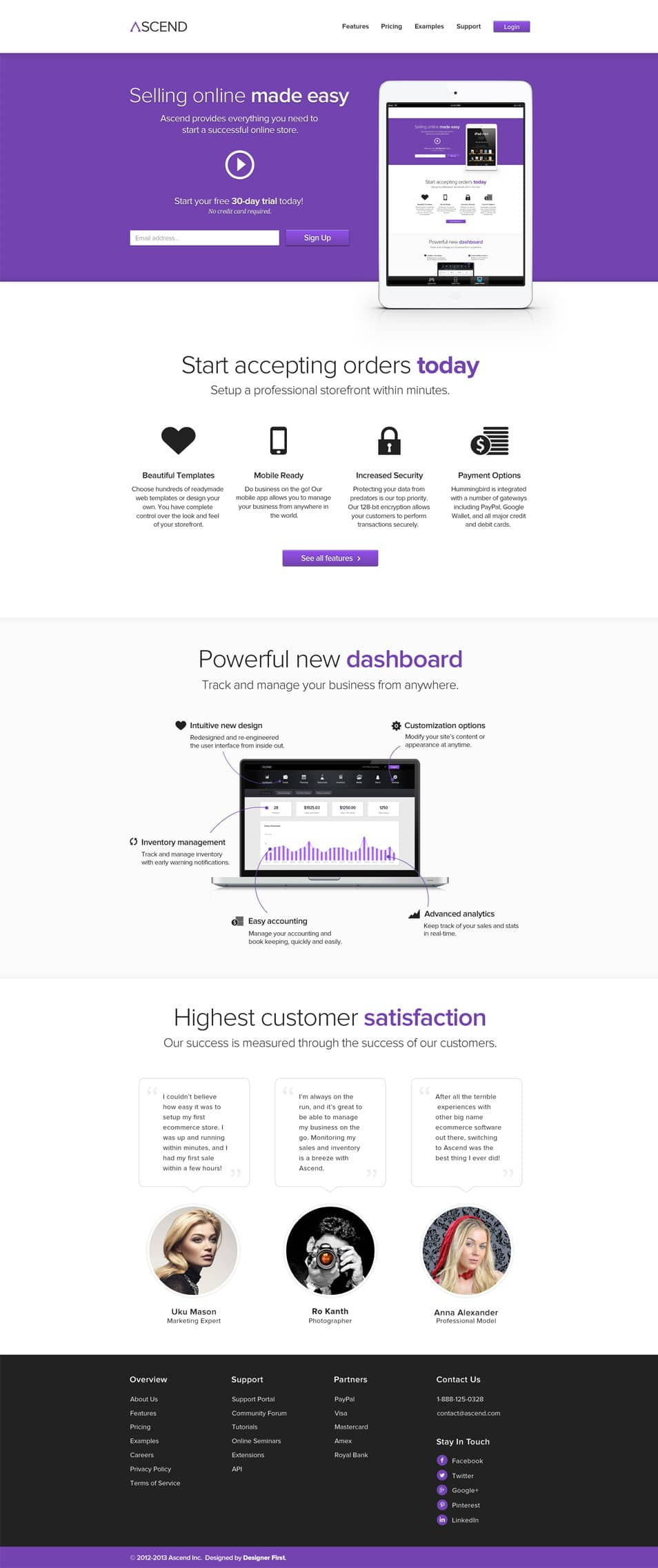 Ascend – PSD ecommerce template