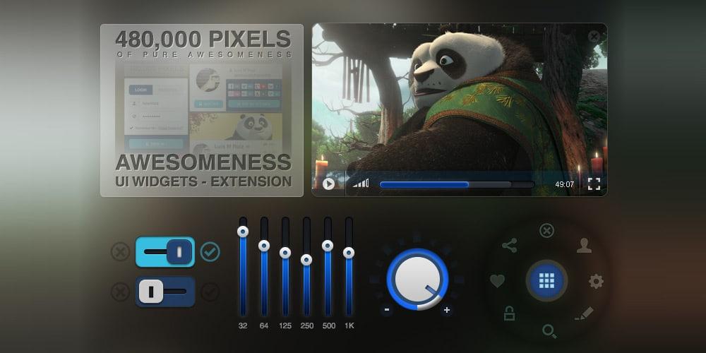 Awesomeness UI Widgets PSD