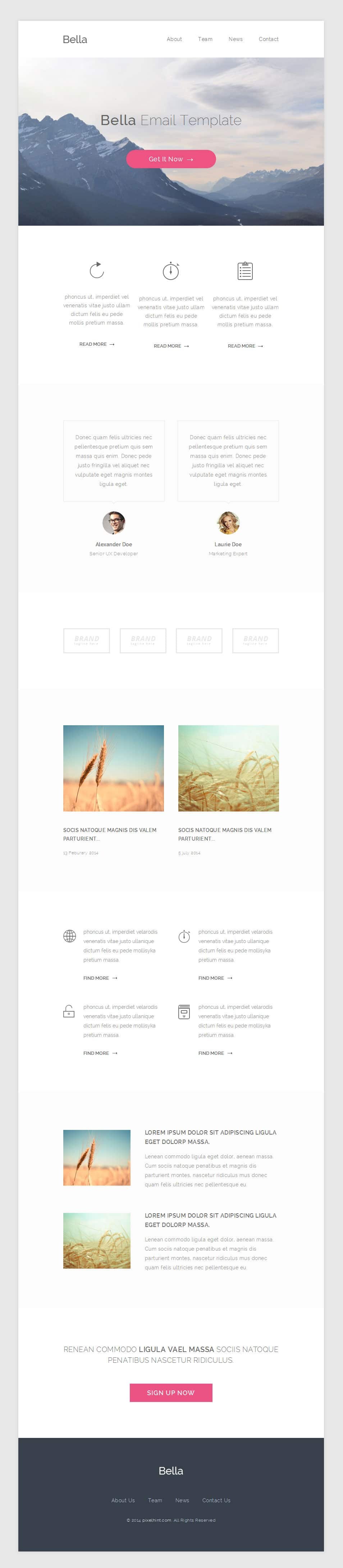 Bella – Free PSD Email Template